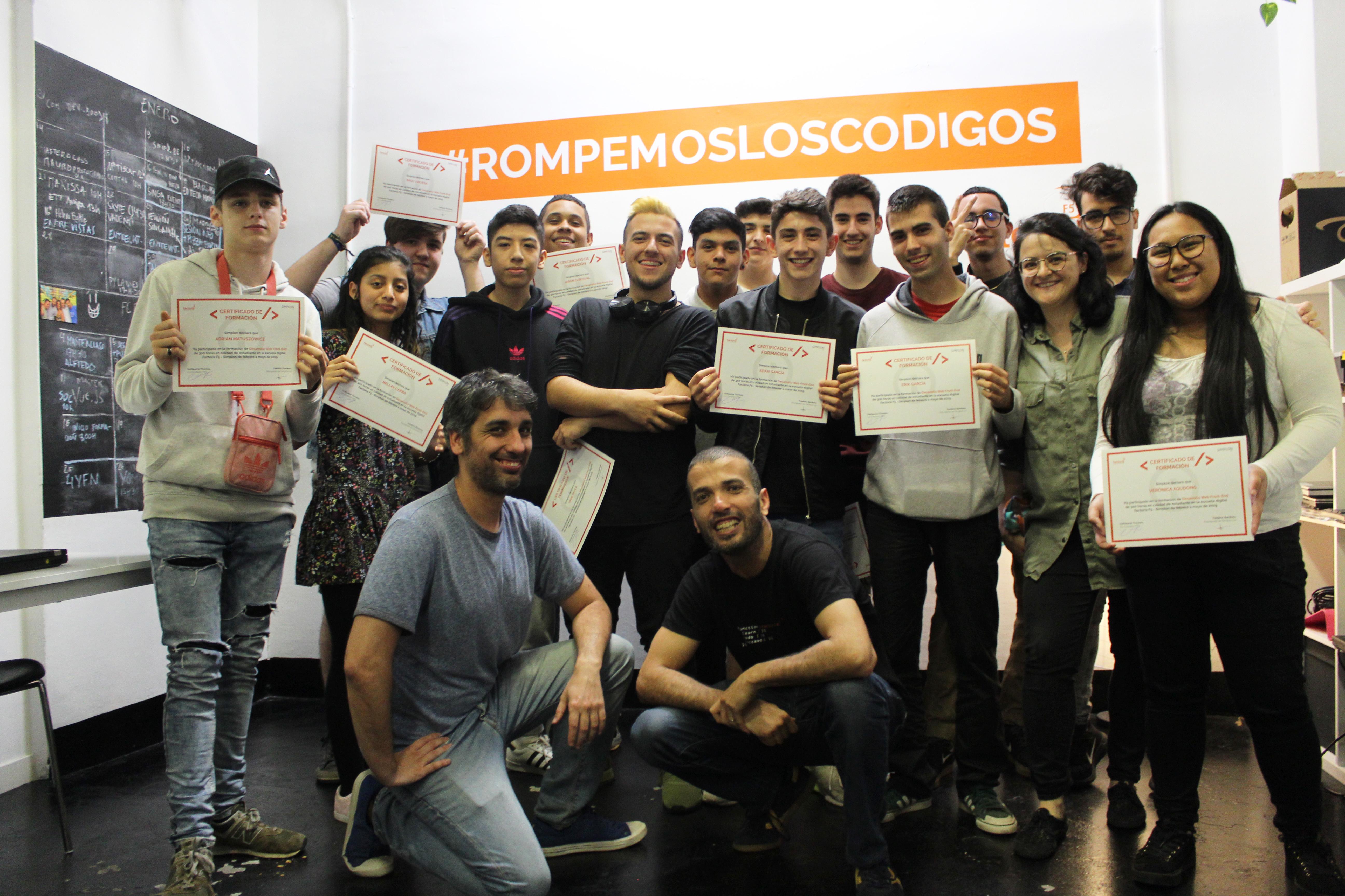 (Español) Graduación de la Formación de Desarrollo Web Front-end